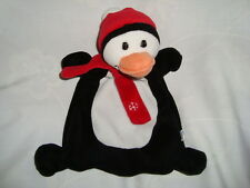 Piccolo Bambino Penguin With red Scarf & Hat Plush Baby Rattle