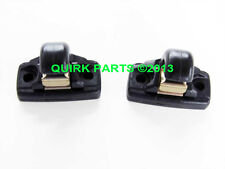 VW Volkswagen Set of 2 Sun Visor Clips BLACK OE Beetle Eos R32 Golf Jetta Passat
