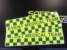 Magnetic Sign EVENT MEDICAL RESPONSE 2 green Yellow ambulance vehicle emergence