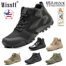 New listing Men's Hiking Combat Boots Travel Tactical Wide Trekking Military Mid-Ankle Shoes
