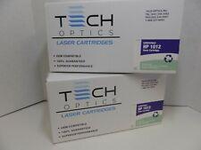 Tech Optics, HP 12A (Q2612A) Black Toner Cartridge, Compatible, 2 Pack