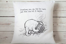 "Relax - 16"" cushion cover Vintage Winnie The Pooh Nursery chic - UK Handmade"
