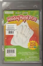 NIP Holiday Hand Print Plaster Casting Keepsake Ornament Kit NEW