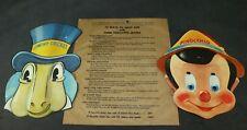 Disney 1939 Pinocchio Gillette Razor Blades Masks Set of 2 Premium Jiminy