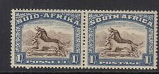 South Africa 1939 1s Brown & Chalky Blue SG62 Fine MNH Pair.
