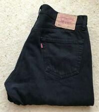 Levis 501 XX Straight Leg Black Denim Jeans W 36 L 33