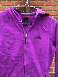 North Face Womens Fleece Hoodie, Purple, Size Small.