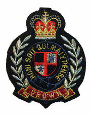 Honi Soit Qui Mal Y Pense  Patch Felt Crest Badge British Knight Garter UK Coat