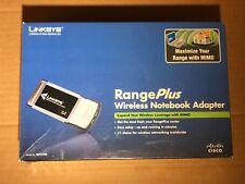 Linksys WPC100 RangePlus WiFi Wireless Notebook Laptop Adapter - NEW IN BOX