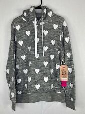 Women's Heart Pattern Love Maternity Hoodie Size Large