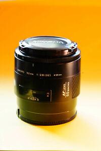 Minolta Makro Objektiv  ---   MACRO  50 mm  1:2,8 (32)  ---  evt. auch für Sony