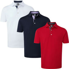 FootJoy Mens Stretch Pique Paisley Trim Golf Short Sleeve Polo Shirt