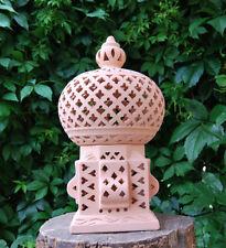 schöne Windlicht Lampe Laterne Terracotta Terrakotta  Garten Licht Kerzenhalter
