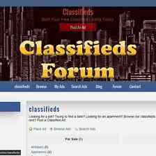 Custom Made Professional Classifieds Ads Website Business With Forum 2/M Hosting