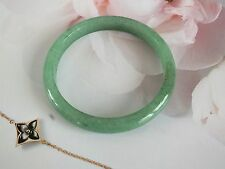 CHINESE 50mm D GREEN JADE CHILDREN BABY BANGLE JEWELLERY BIRTHDAY PARTY GIFT A4