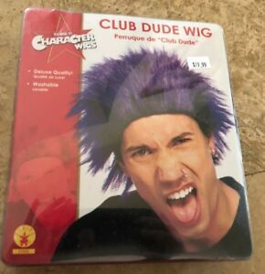 Rubie's Déguisement Club Dude Perruque Noir/Bleu Un Taille Halloween Cosplay