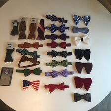 Lot of 25 Vintage & Silk BEAU BOW TIES Neck + Novelty, Holiday, Variety BNIB