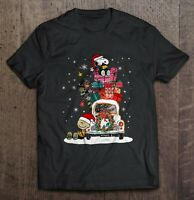 Snoopy And Charlie Brown Gift Box Classic Black T Shirt. Best Christmas Gift.