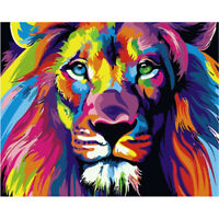 DIY 5D Full Drill Diamond Painting kit Lion Cross Stitch Embroidery Home Decor