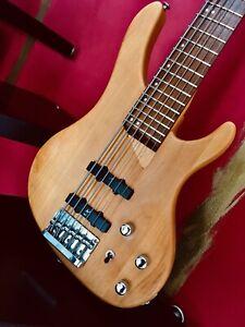 Washburn X Bass Bantam 6 Saiter Custom Galli Aktive Birds Eye Warwick
