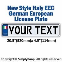 ITALIAN  Italy European EEC Aluminum License Plate Custom Personalized New Cool