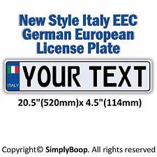 Italian Italy European EEC Aluminum License Plate Custom Personalized Cool