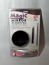 Magic Mirror 10x Complete 4pc Set Heated Eyelash Curler, Tweezer - As Seen On TV