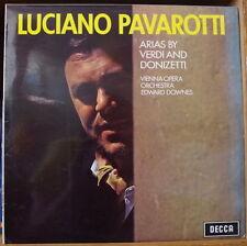 LUCIANO PAVAROTTI ARIAS BY VERDI AND DONIZETTI CLASSIC UK PRESS  LP
