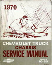 1970 CHEVROLET  TRUCK CHASSIS  SERVICE MANUAL SERIES 10-60 EN ANGLAIS