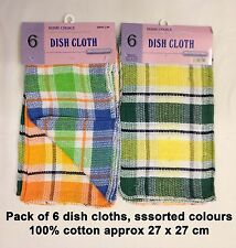6 Pack 100% Cotton Towels Dish Pot Drying Cleaning Kitchen Cloth Tea Cloths New
