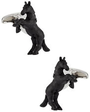 Bucking Bronco Horse Cufflinks Hand Painted Direct from Cuff-Daddy