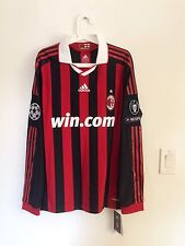 PIRLO,AC MILAN 2009-10 HOME UCL LS PLAYER ISSUE FORMOTION JERSEY