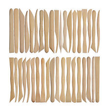 New 38pcs 6inch Wooden Polymer Clay Pottery Mini Sharping Modeling Tools Set
