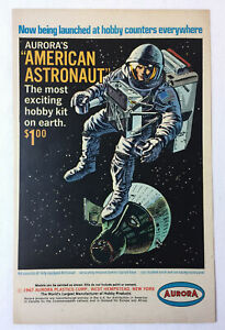 1967 Aurora model ad page ~ AMERICAN ASTRONAUT