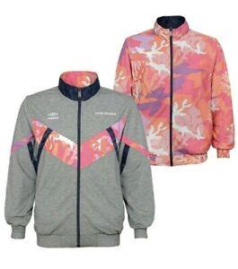 Umbro Premier Track Jacket Full Zip Reversible Black Beauty UUM1UA8M-UQQ Sz XXL