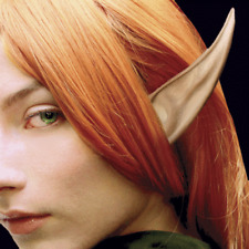 "LARGE ELF ALIEN FAIRY COSTUME LATEX POINTED EARS 6"" HOBBIT PETER PAN LARP LONG"