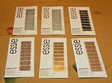 (6) ESSIE SLEEK STICK NAIL STRIPS DECALS 2#010;#030;#090;#100& #110 Sealed