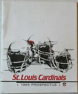1985 St. Louis Cardinals NFL Prospectus Media Guide Book