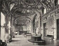 PARIS. Palais du Luxembourg. Ancienne Salle du Trône 1900 old antique print