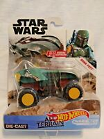 Star Wars Hot Wheels All Terrain Boba Fett Character Cars Diecast Brand New