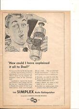 ORIGINAL VINTAGE 1956 SIMPLEX AUTO EXTINGUISHER AUSTRALIAN ADVERT