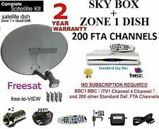 Sky Freesat Ricevitore SATELLITARE DIGI BOX compresi Dish LNB Full Kit