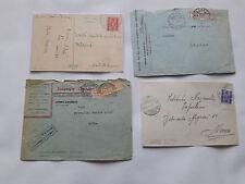 STORIA POSTALE 1944 REGNO P.P. + SEGNATASSE SU 4 DOCUMENTI Z/2258