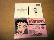 "BETTY BOOP""TOON TOWN""DRIVER  SOUVENIR LICENSE  IDENTIFICATION, NEW"