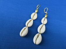 Cowrie Shell Earrings African Style Ethnic Jewelry
