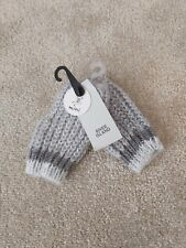 BNWT Boys RIVER ISLAND Winter Fingerless Gloves Mittens Age 1 2 3 4 5 Years Grey