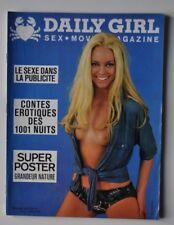 rare * DAILY GIRL ( comme playboy lui ) VOL 2 N°4 1970 érotisme charme cinema X
