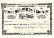 UTICA AND MOHAWK RAILROAD CO....LATE 1800'S .UNISSUED COMMON STOCK CERTIFICATE
