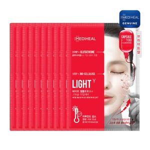 MEDIHEAL-Capsule 100 Bio Seconderm LIGHT γ Mask Pack 23ml+GLUTATHIONE 4ml(10pcs)