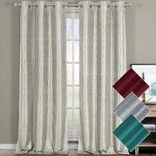 Voyage Blackout Jacquard Textured Grommet Top Curtain Panels ( Set of 2 Panels )